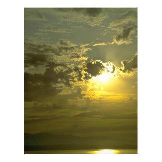 "Splendid Evening Sky 8.5"" X 11"" Flyer"