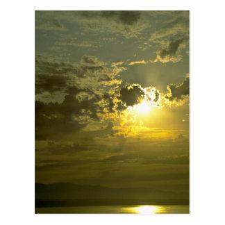 Splendid Evening Sky Postcard