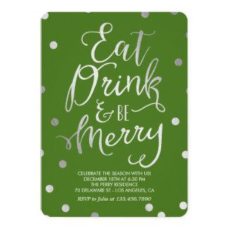Splendid Merriment Editable Color Holiday Party 5x7 Paper Invitation Card