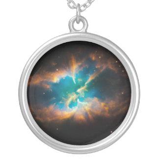 Splendid Nebula Round Pendant Necklace