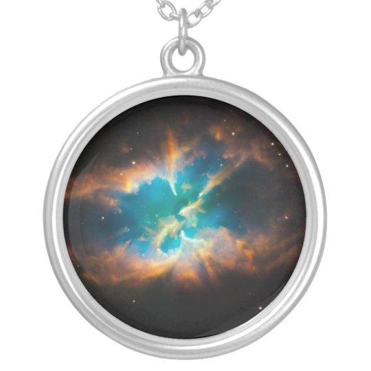 Splendid Nebula Silver Plated Necklace