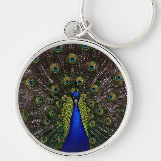 Splendid Peacock Keychain