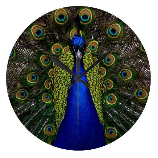 Splendid Peacock Wallclock