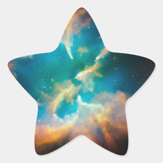 Splendid Planetary Nebula Star Sticker