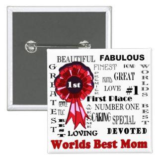 Splendid Word Collage Worlds Best Mom Design Button