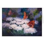 Splendor In The Meadow Butterfly Blank Card
