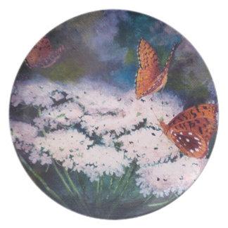 Splendor In the Meadow Butterfly Plate