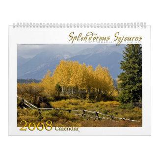 Splendorous 2008 Sojourns el calendario
