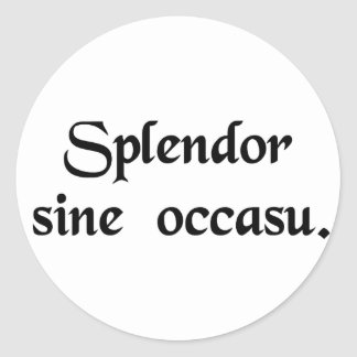 Splendour without end. classic round sticker