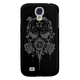 Spler Sugar Skull with Gas Mask (dark) Galaxy S4 Case