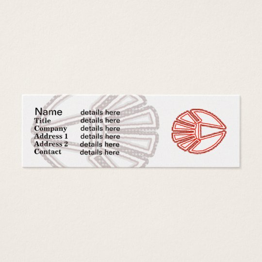 Splinter Fist Mini Business Card