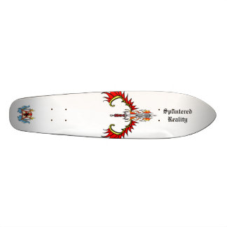 splintered banana skateboard