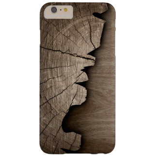 Splintered Rustic Wood Look Wood Grain Pattern Barely There iPhone 6 Plus Case
