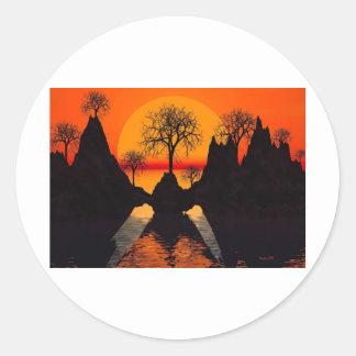 Splintered Sunlight Classic Round Sticker