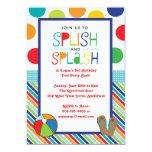 Splish Splash Bash (Blue) Personalized Invitations