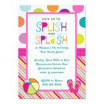 "Splish Splash Bash (Pink) 5"" X 7"" Invitation Card"