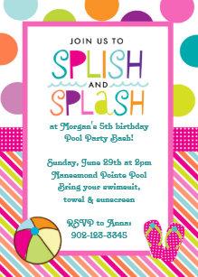 splash invitations zazzle