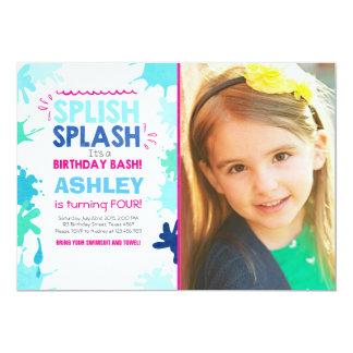 Splish Splash birthday invitation Girl