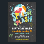 "Splish Splash birthday invitation Pool party<br><div class=""desc"">♥ A perfect way to invite your guests to your little one&#39;s birthday party! For a pool party.</div>"