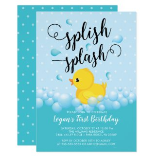 Splish Splash Duck Birthday Invitation