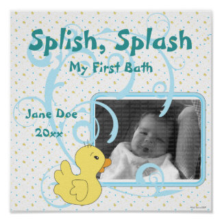 Splish Splash Ducky Scrapbook Page Poster
