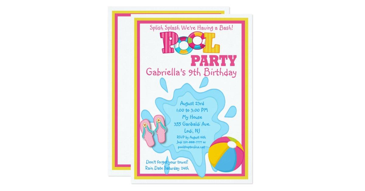 Birthday Pool Party Invitations – gangcraft.net