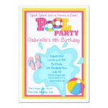 Splish Splash Girls Pool party Invitation