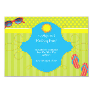 Splish Splash Party Card