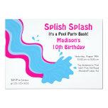 Splish Splash Pool Party Birthday Invitation