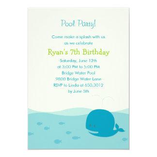 Splish Splash Pool Party or Beach Party Invitation