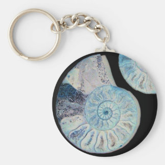 Split Ammonite Keyring Keychain