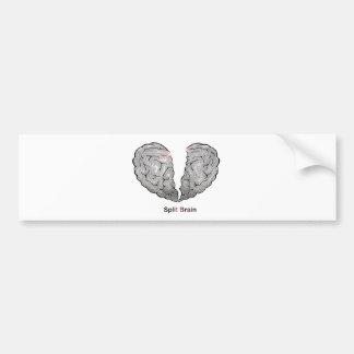 Split Brain Bumper Sticker