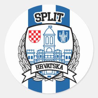 Split Classic Round Sticker