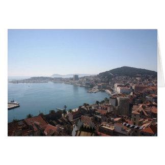 Split Coast Greeting Card