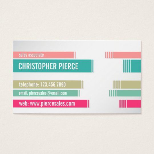 Split Colored Lines - Style 2 Business Card