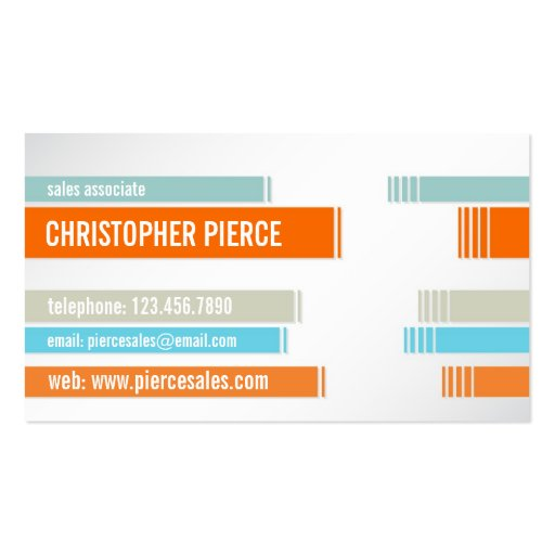 Split Colored Lines - Style 3 Double-Sided Standard Business Cards (Pack Of 100)