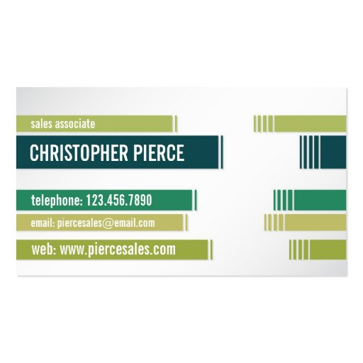 Split Colored Lines - Style 5 Business Card