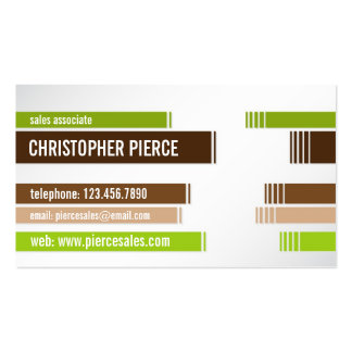 Split Colored Lines - Style 6 Business Card Templates