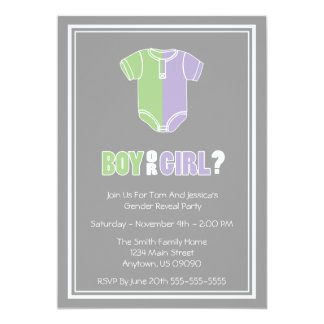 Split Creeper Gender Reveal Party Invitations