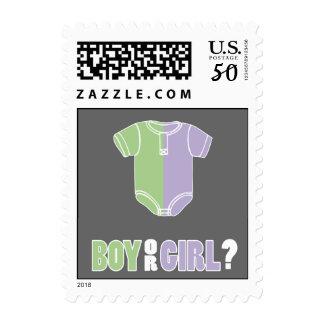 Split Creeper Gender Reveal Party Postage Stamps
