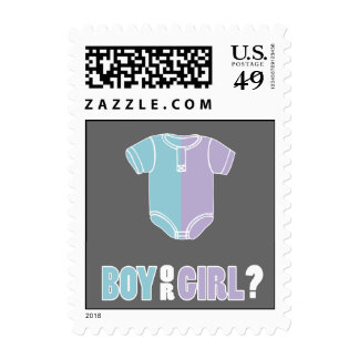 Split Creeper Gender Reveal Party Postage Stamps
