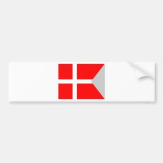 Split (Denmark) Flag Bumper Sticker