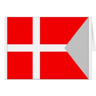 Split Denmark Flag Card