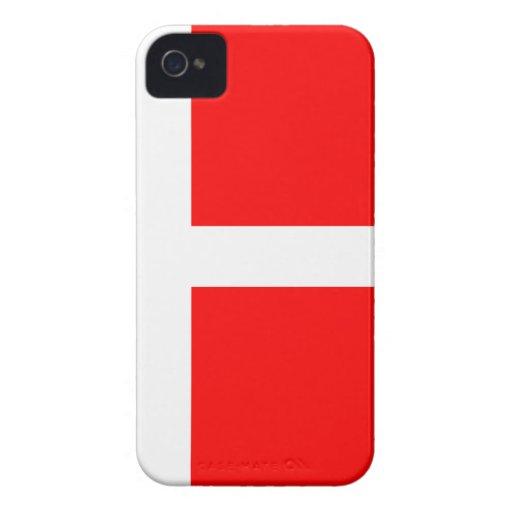 Split Denmark Flag Case-Mate iPhone 4 Cases