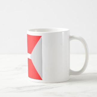 Split Denmark Flag Coffee Mug