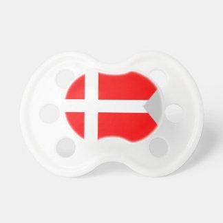Split Denmark Flag Baby Pacifiers