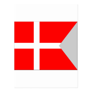 Split Denmark Flag Postcard