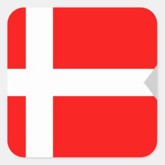 Split Denmark Flag Square Sticker