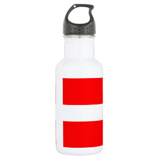 Split Denmark Flag Stainless Steel Water Bottle