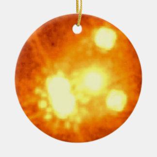 Split, Distorted Light from Quasar PG1115+080 Christmas Ornaments